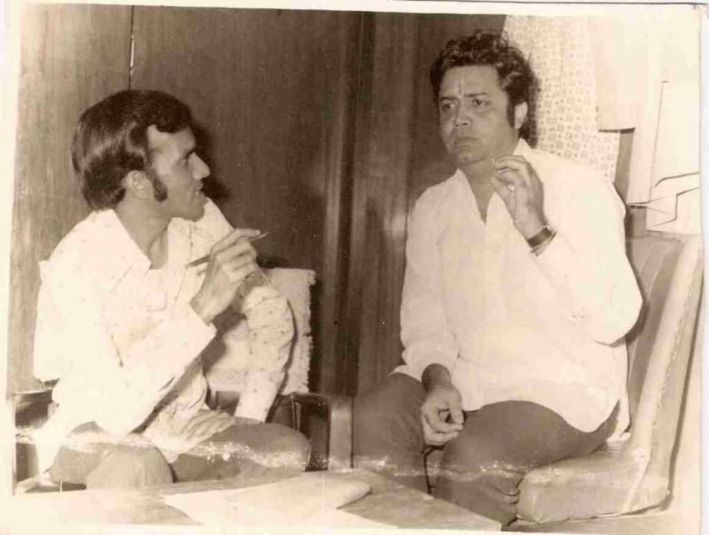GOLDEN MEMORIES WITH FILM ACTOR DEVEN VARMA AT ROOPTARA STUDIO IN JUNE 1971.